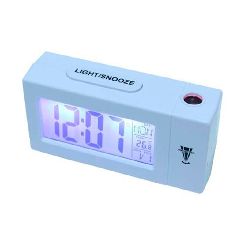 Relógio Despertador Projetor de Horas com Termômetro Higrômetro  - Thata Esportes