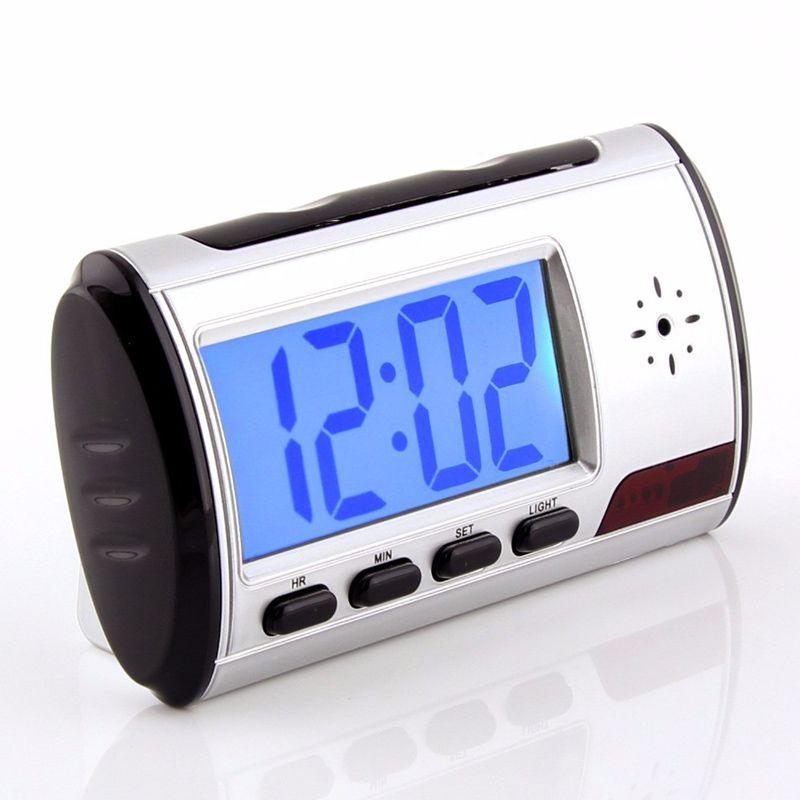 Relógio Espião De Mesa Com Sensor De Movimento Filma E Fotografa  - Mundo Thata