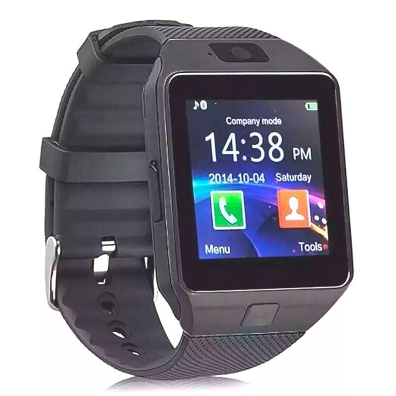 Relógio Inteligente Celular Smartwatch Chip Bluetooth Gsm Touch Camera Android iOS  - Mundo Thata