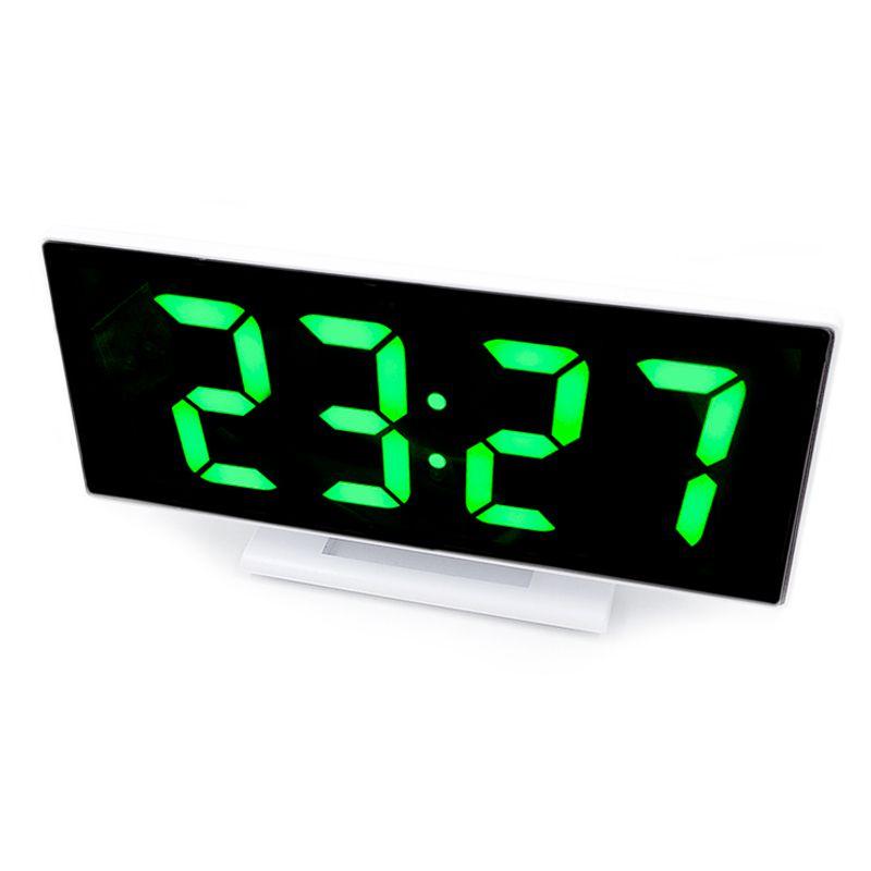 Relogio LED Digital Espelhado de Mesa Alarme Despertador Temperatura USB  - Thata Esportes