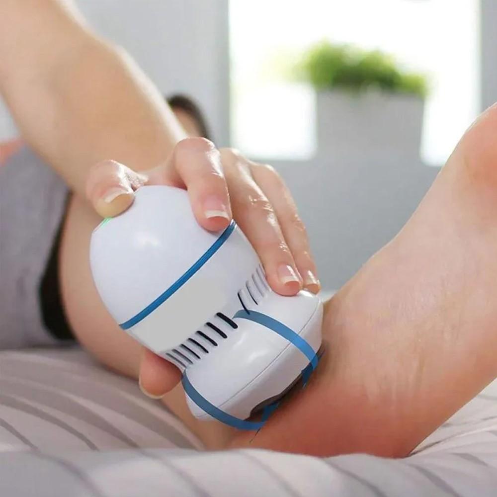 Removedor Calos Recarregável Duas Velocidades Limpeza Pedicure  - Mundo Thata
