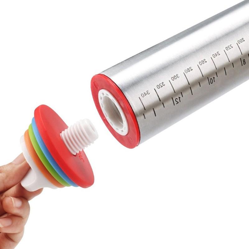 Rolo Profissional Para Massa Discos Medidas Ajustáveis Inox 35 cm  - Mundo Thata