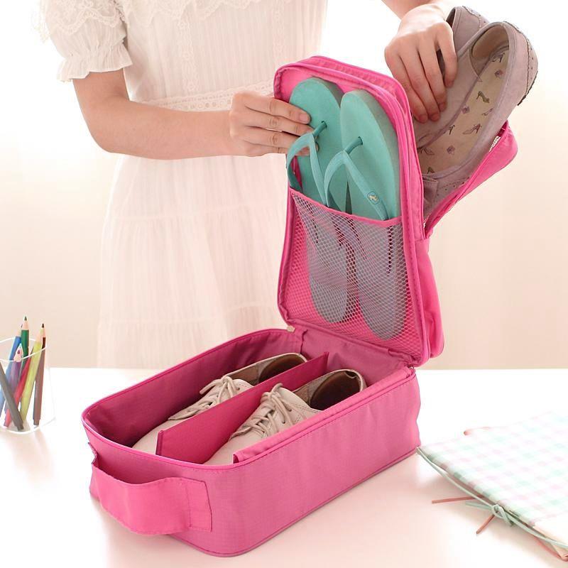 Sapateira Porta Sapatos Para Mala Viagem com Divisórios 2  - Mundo Thata