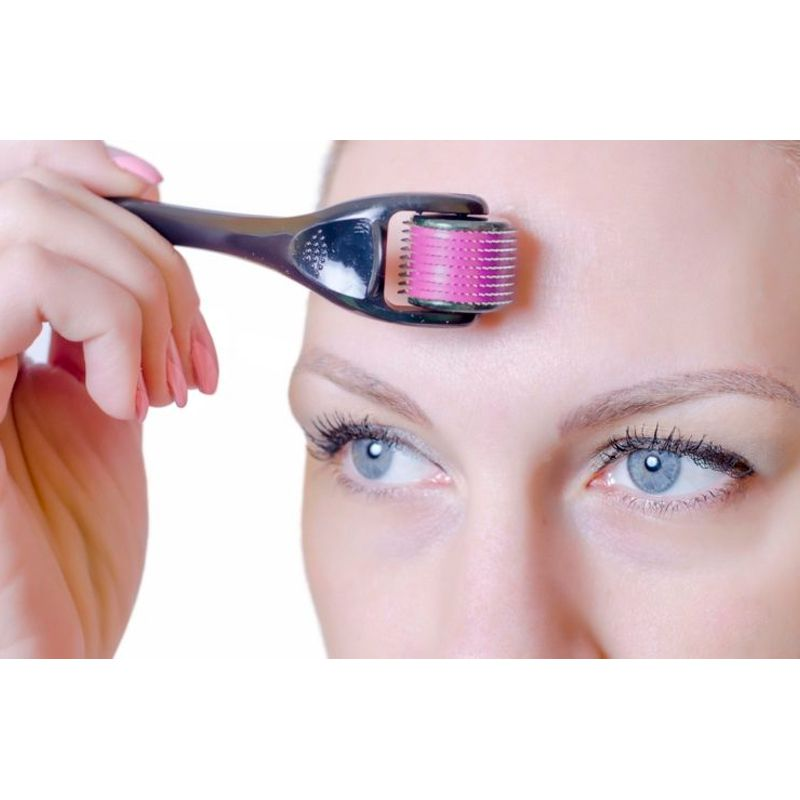 Skin Roller System 540 Agulhas De 0,5 mm Cada Esfoliação Colágeno  - Mundo Thata