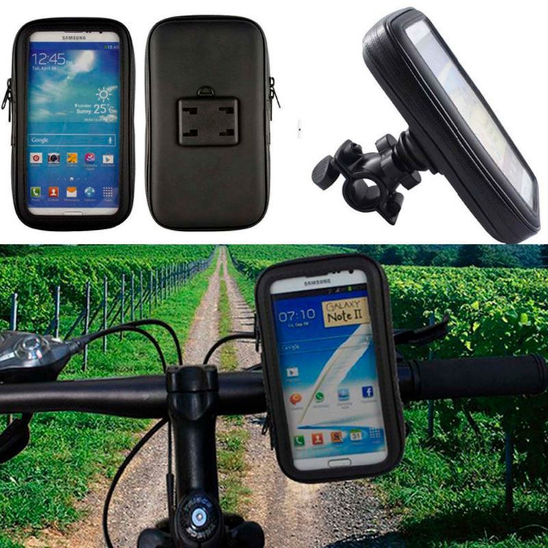Suporte e Capa Protetora de Celular para Moto e Bicicleta - Resistente a Água - até 12 cm  - Thata Esportes