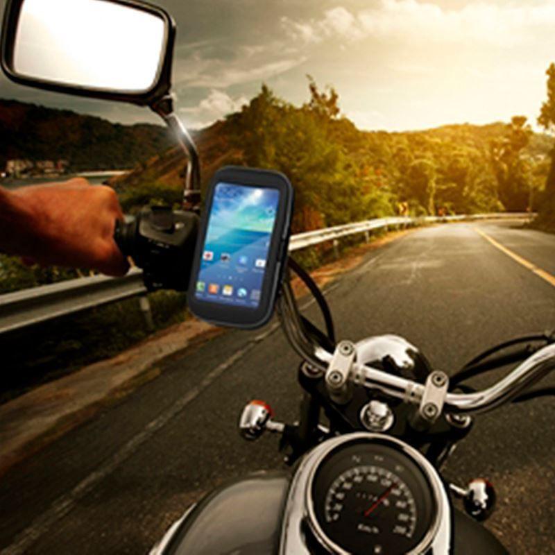 Suporte e Capa Protetora de Celular para Moto e Bicicleta - Resistente a Água - até 14 cm  - Thata Esportes
