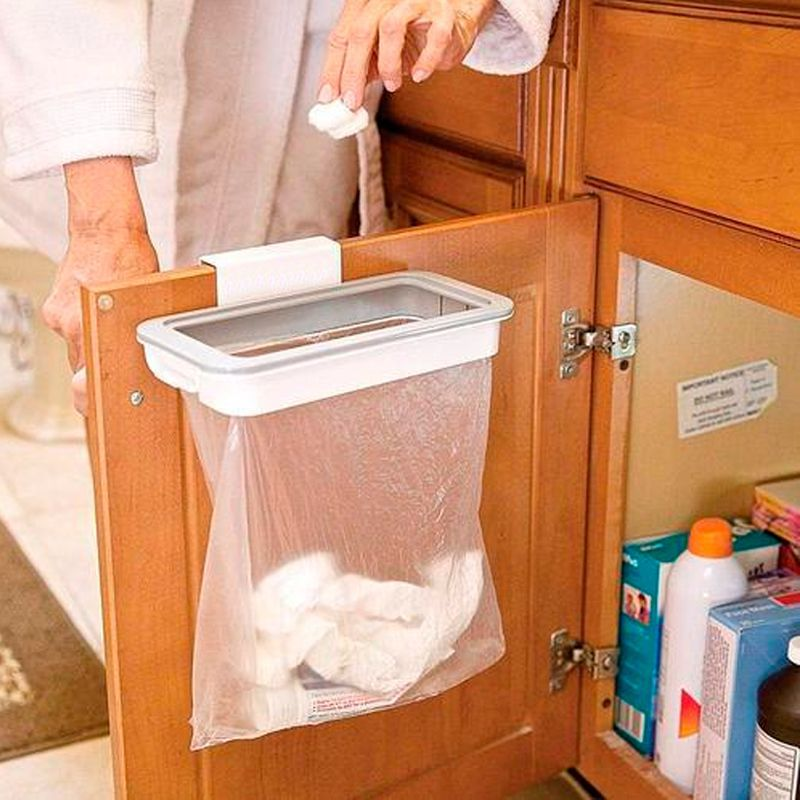 Suporte para Saco de Lixo Lixeira Attach-a-Trash Cozinha   - Mundo Thata