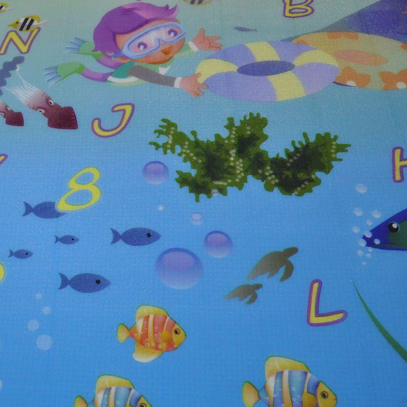 Tapete Infantil Portátil Para Bebê Alfabeto 120 cm x 90 cm  - Thata Esportes
