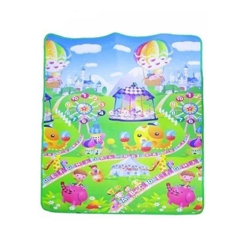 Tapetes Atividades Infantil Criança Educativo Dupla Face 180 cm x 120 cm Brinquedo Maternidade  - Mundo Thata
