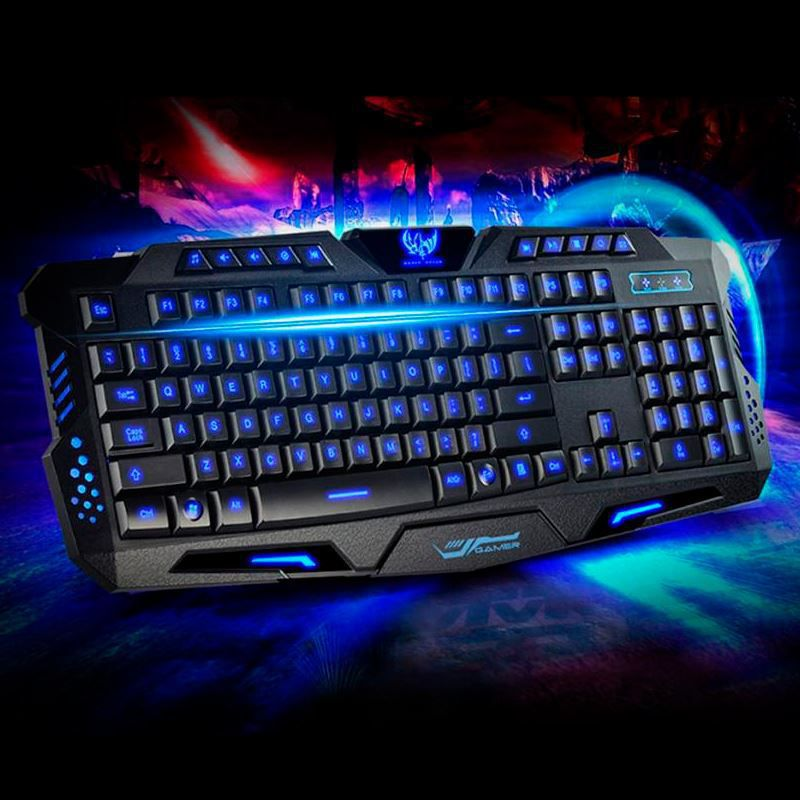Teclado Gamer LED Profissional M200 RGB com Fio  - Mundo Thata