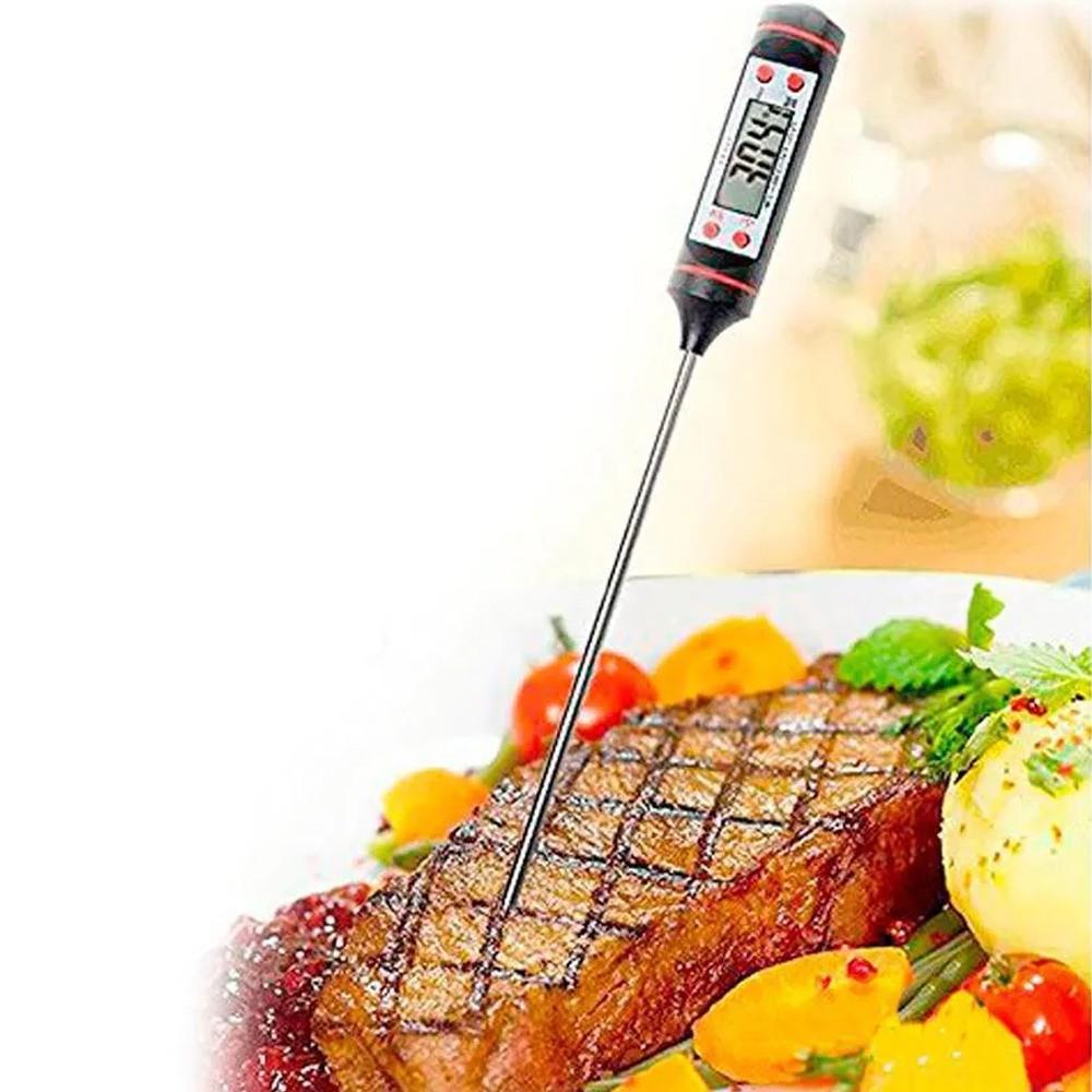 Termômetro Culinário Digital Espeto Multiuso Alimentos Cozinha Casa Indústria  - Mundo Thata