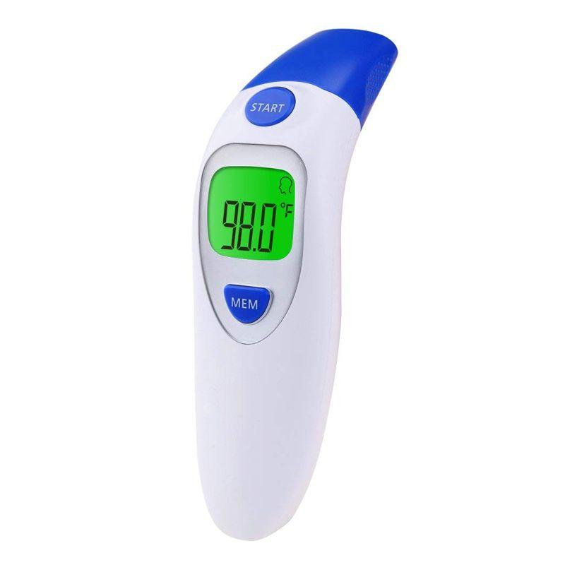Termômetro Digital Infravermelho Testa e Orelha Bebê Crianças Adultos  - Thata Esportes
