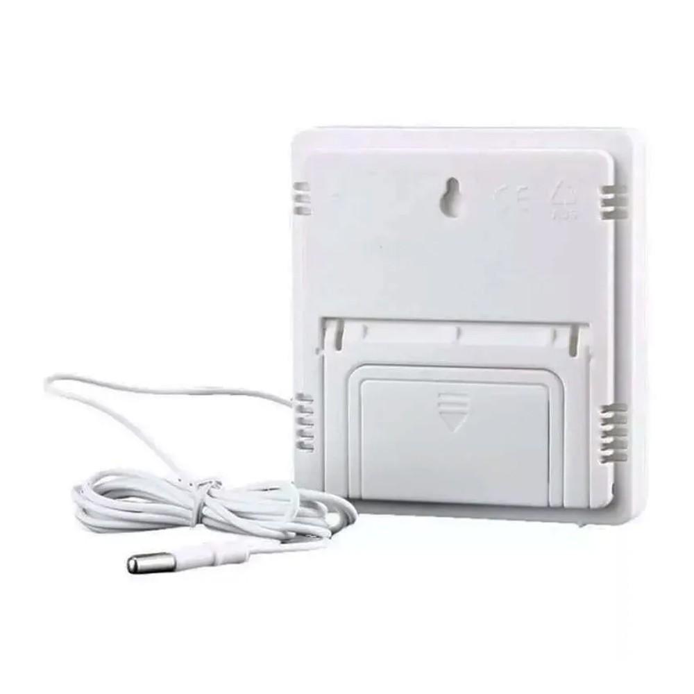 Termômetro Medidor Temperatura Umidade Interno e Externo com Higrômetro HTC-2A  - Mundo Thata