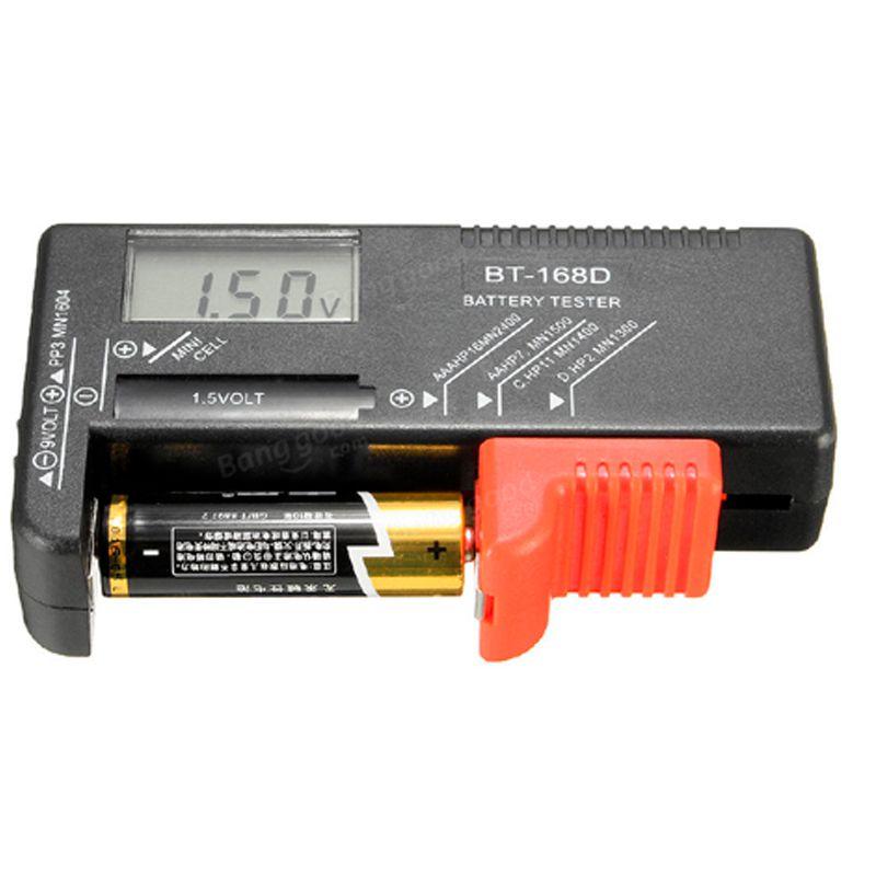 Testador Medidor de Carga Pilhas e Baterias Digital Universal AA AAA  - Thata Esportes