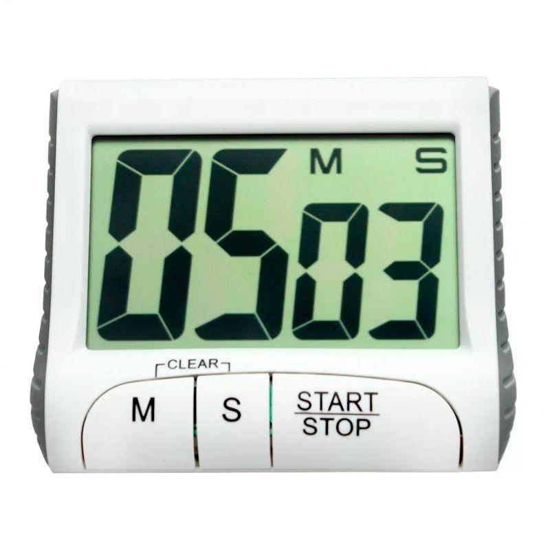 Timer Temporizador Cozinha Cronometro Imã Magnético LCD  - Thata Esportes