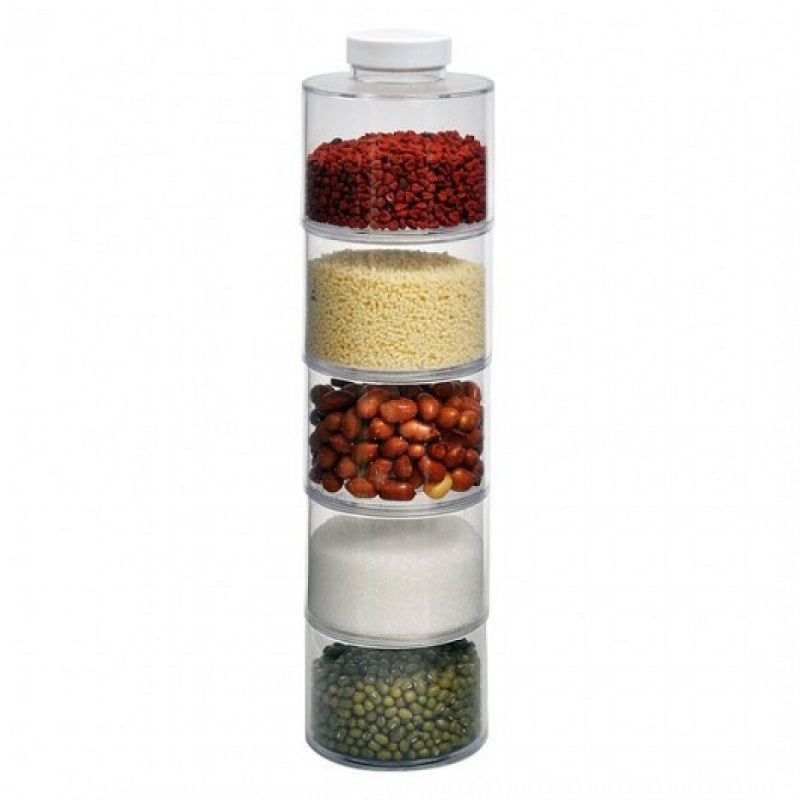 Torre Porta Condimentos Temperos Spice Jar Tower  - Thata Esportes