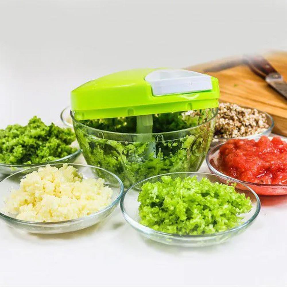 Triturador Alimento Legumes Verduras Frutas Speedy Hopper Nicer Dicer 3 Lâminas  - Mundo Thata