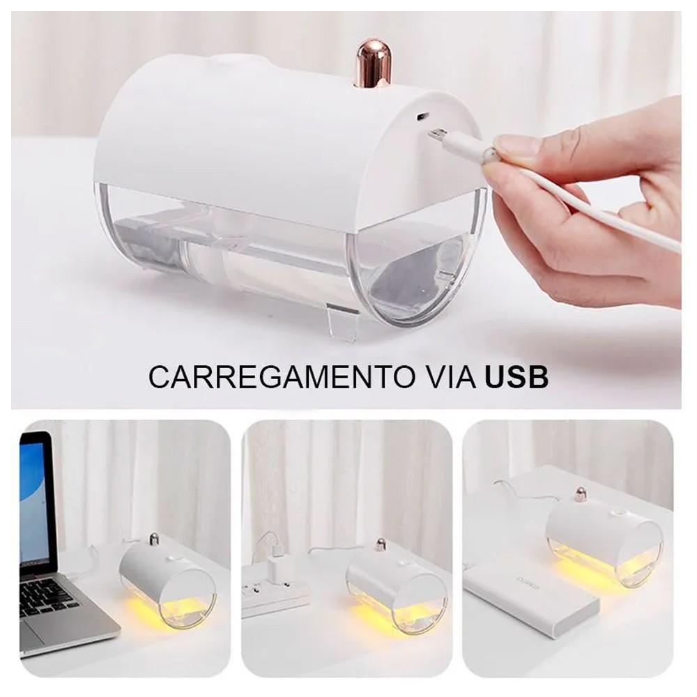 Umidificador Difusor De Ar Submarino Luz LED Bivolt USB  - Mundo Thata