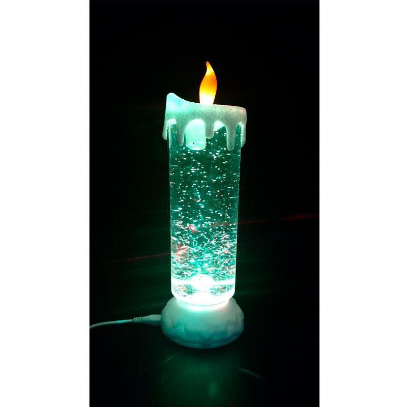 Vela LED Recarregável via USB Luminária RGB Magic Candle  - Mundo Thata