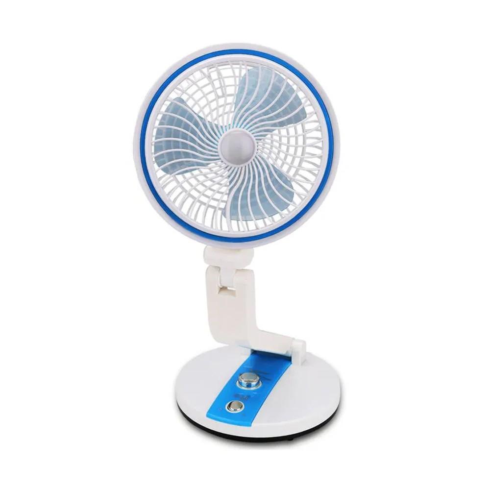 Ventilador dobravel Luminária Abajur LED  Articulável Rotação 360 Graus Recarregável  - Thata Esportes