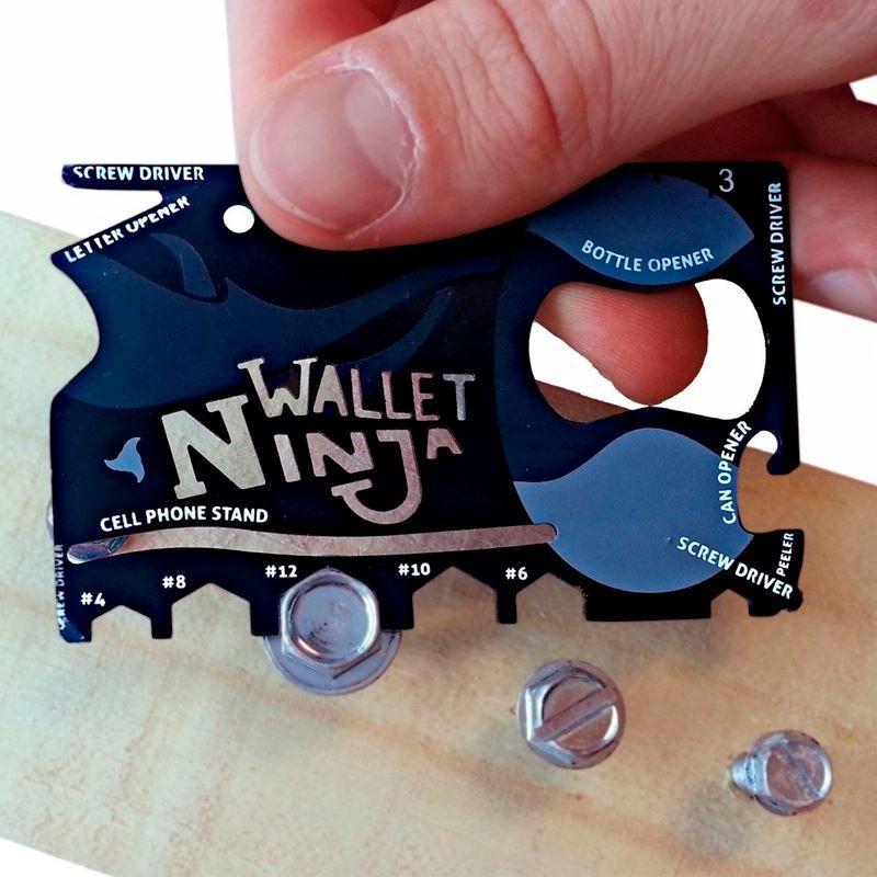Wallet Ninja Cartão Multifuncional 18 Ferramentas em 1  - Thata Esportes