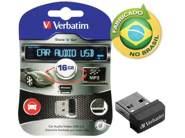 Pen Drive Nano Verbatim 98026 Car Audio 16GB USB Drive 2.0  - FAMATECNOSHOP