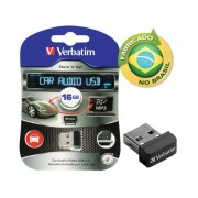 Pen Drive Nano Verbatim 98026 Car Audio 16GB USB Drive 2.0