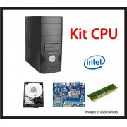 KIT CPU CONTENDO PROC INTEL DUO CORE (4� GERA��O) / MB 1150 / MEM 4GB / HD 500GB / GAB ATX