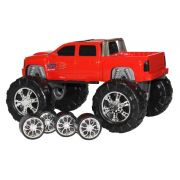 Caminhonete ou Big Foot Vermelha 2 em 1 Double Car Power Road Diver Toys 062