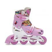 Patins In-Line Roller Kids Ajustável Rosa – Tamanho M (32 a 35) – Bel Sports 367800