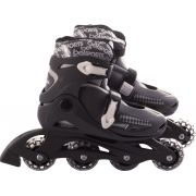 Patins In-Line Roller Radical Ajustável Cinza – Tamanho G (36 a 39) – Bel Sports 367600