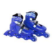 Patins In-Line Roller Radical Ajustável Azul – Tamanho G (36 a 39) – Bel Sports 367600