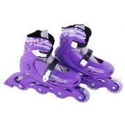 Patins In-Line Roller Radical Ajustável Roxo – Tamanho G (36 a 39) – Bel Sports 367600