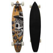 Skate Longboard Bel Sports Caveira 95 cm ABEC-5 - 465700