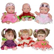 Kit Contendo 6 Bonecas Dolls Collection no Display Cotiplas - 1837