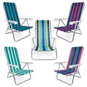 Cadeira Reclinável Alumínio 4 Posições Praia e Piscina - Mor