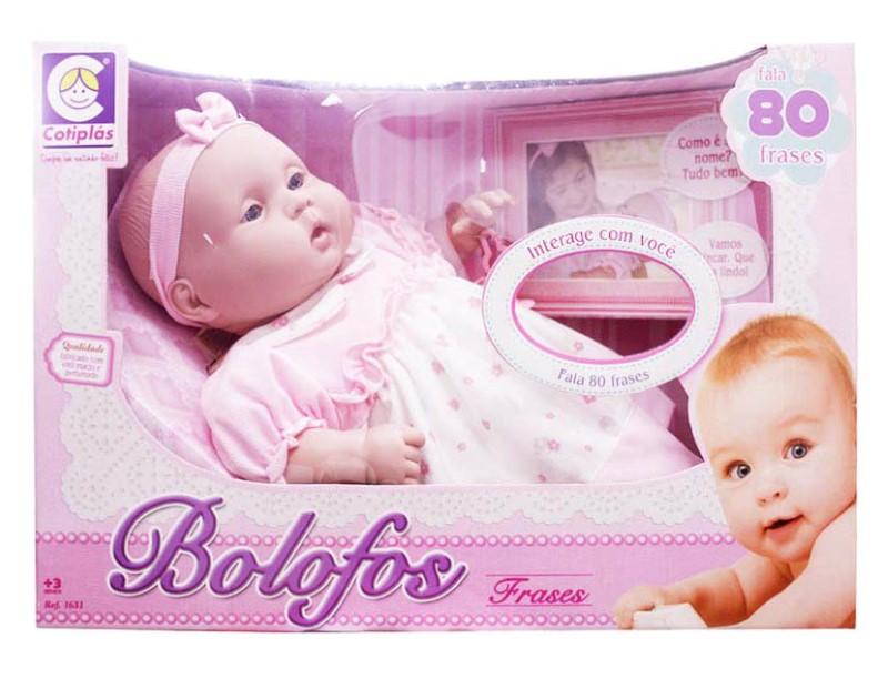 Boneca Bebe Bolofos 80 Frases Cotiplas - Ref 1631  - FAMATECNOSHOP