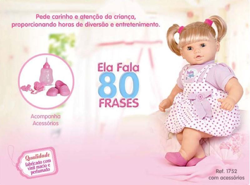 Boneca Sonho Azul 80 Frases com Cabelo Cotiplas - Ref 1752  - FAMATECNOSHOP