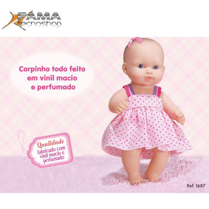 Baby Jr Fofinha com Vestido Cotiplas- Ref 1687  - FAMATECNOSHOP