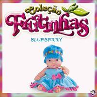 Boneca Coleção Frutinhas Blueberry Cotiplas - Ref 1991  - FAMATECNOSHOP