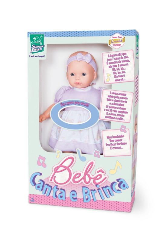 Boneca Bebê Canta e Brinca Super Toys 040  - FAMATECNOSHOP