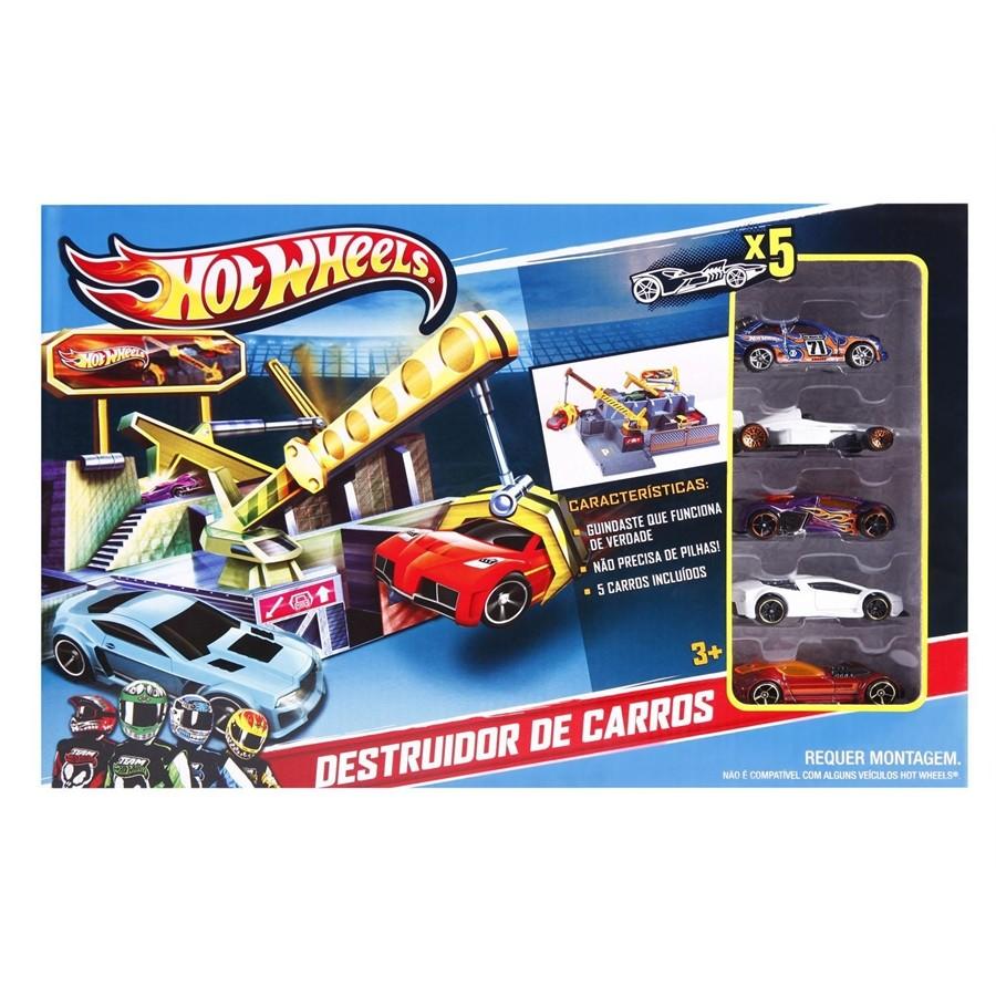 Hot Wheels Conjunto Destruidor com 5 Carros - H9575  - FAMATECNOSHOP