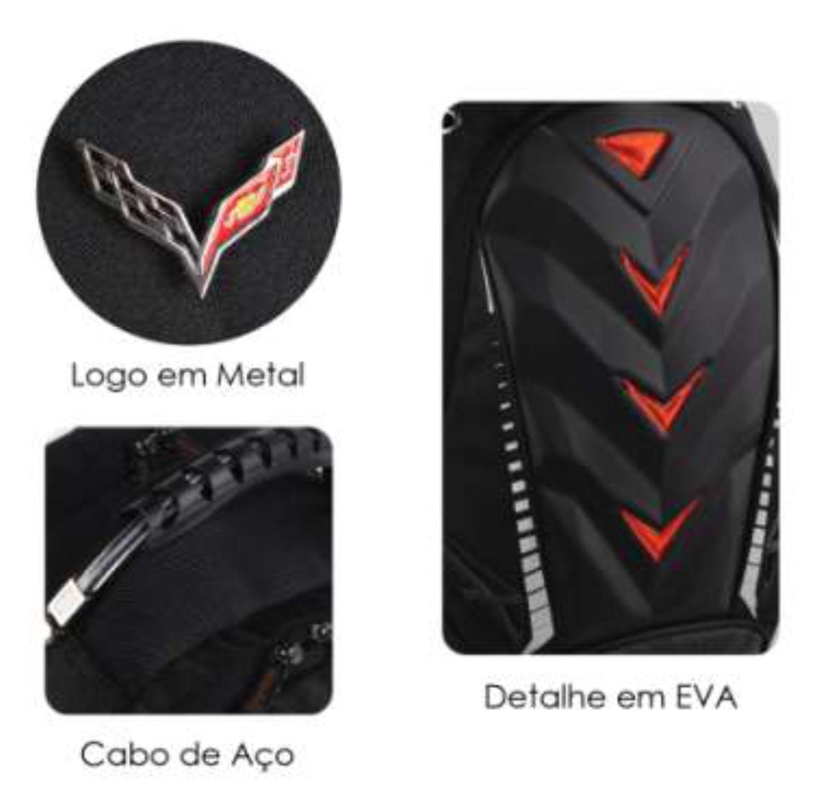 Mochila Esportiva p/ Notebook Luxcel Preta - CORVETTE  - FAMATECNOSHOP