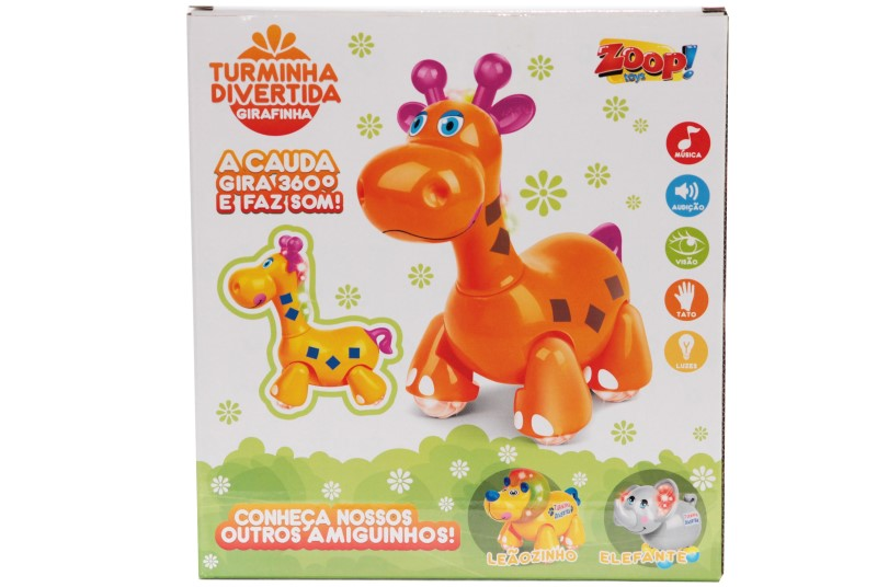 Girafinha Musical Turminha Divertida Zoop Toys ZP00027  - FAMATECNOSHOP