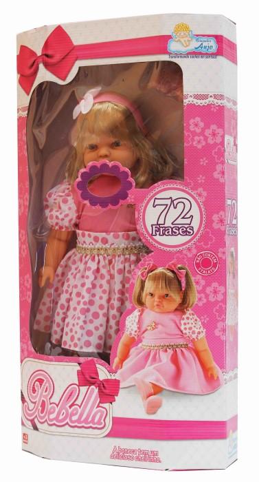 Boneca Bebella com Tiara Fala 72 Frases Anjo - Ref 948  - FAMATECNOSHOP