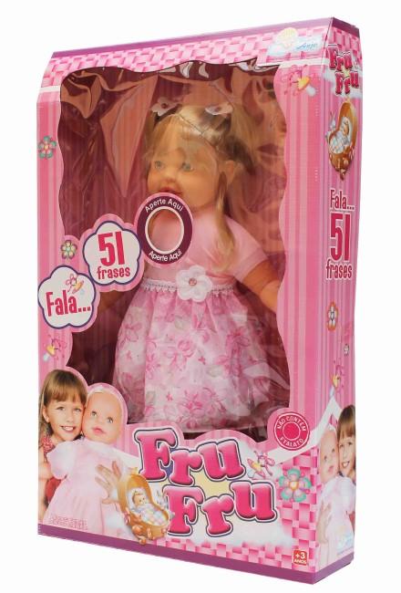 Boneca Fru Fru com Cabelo Fala 51 Frases Anjo - Ref 820  - FAMATECNOSHOP