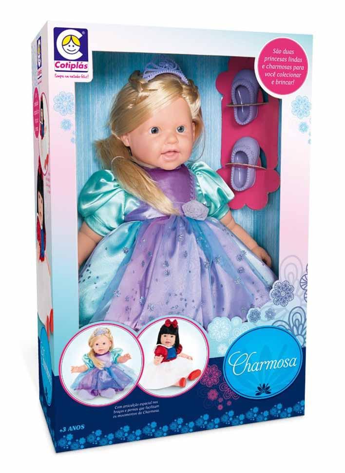 Boneca Charmosa Princesa Loira com Articulação Cotiplas 2042  - FAMATECNOSHOP