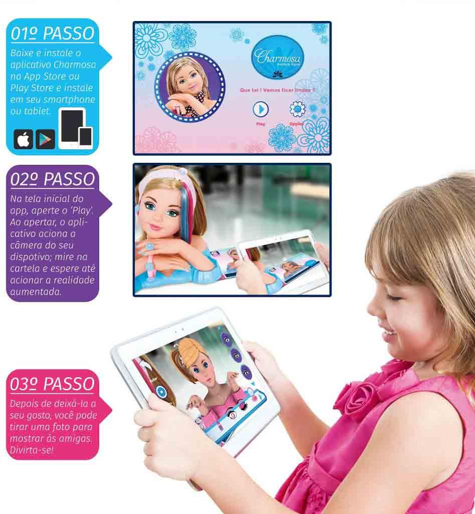 Boneca Charmosa Interação Digital Cotiplas 2033  - FAMATECNOSHOP