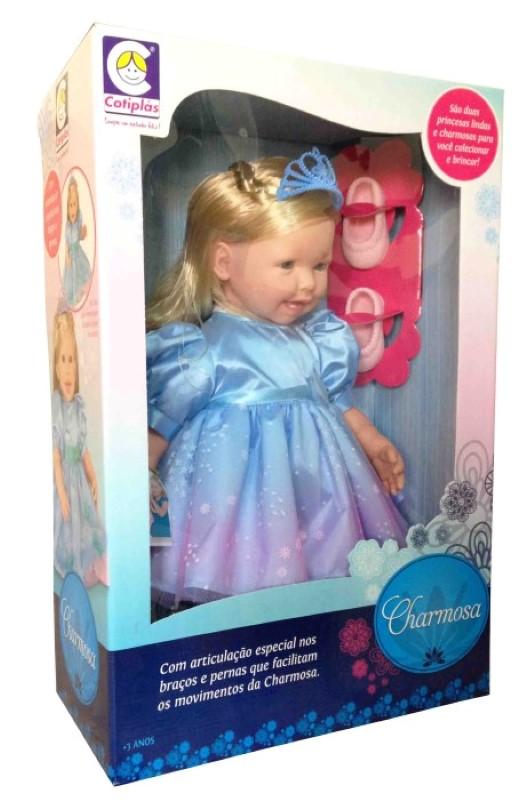 Boneca Charmosa Princesa Loira com Dentinhos e Articulação Cotiplas  - FAMATECNOSHOP
