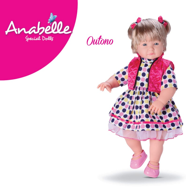 Boneca Anabelle Outono Special Dolls Diver Toys 605  - FAMATECNOSHOP